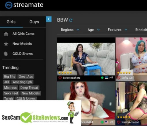 streamate cam models